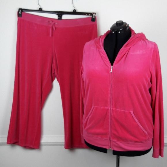 3bdaa5e1e5 Juicy Couture Pants - JUICY COUTURE PLUS SIZE VELOUR TRACKSUIT SIZE 3X